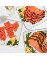 Smoked Salmon Trio Sampler, 3 x 8oz.