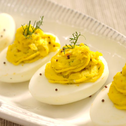 DEVILED EGGS WITH CHOPPED HERRING