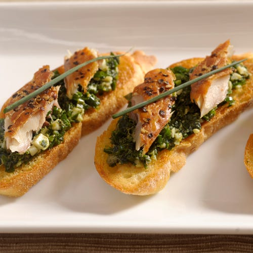 MACKEREL CROSTINI WITH SALSA VERDE