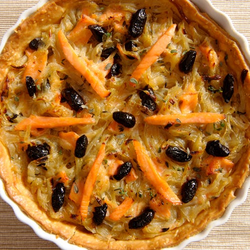 PISSALADIERE WITH SMOKED SALMON