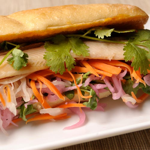 SMOKED TROUT BANH MI
