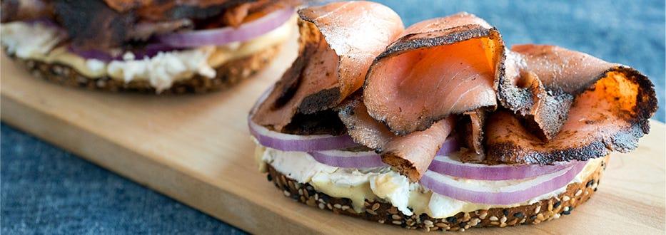 Pastrami Smoked Salmon Great Gatsby Sandwich